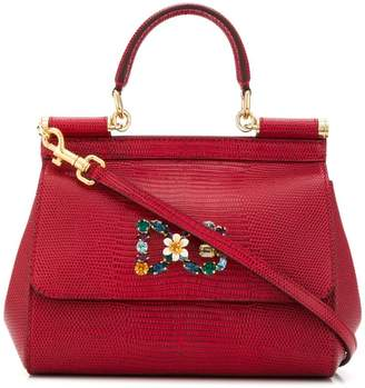 Dolce & Gabbana bouquet brooch tote bag