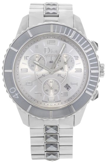 Christian Dior Christian Dior Christal CD114312M001 Grey Ion Plated Stainless Steel Quartz 38mm Womens Watch