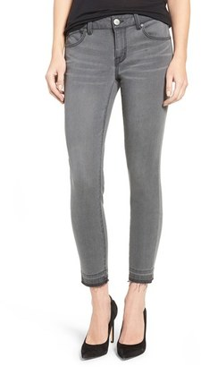 Women's 1822 Denim Raw Hem Crop Skinny Jeans $42 thestylecure.com