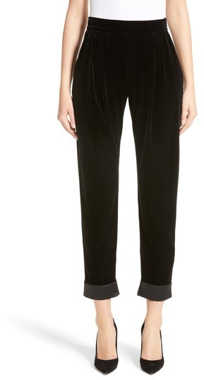 Women's Armani Collezioni Stretch Velvet Ankle Pants
