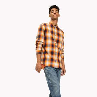 Tommy Hilfiger Cotton Twill Regular Fit Checkered Shirt