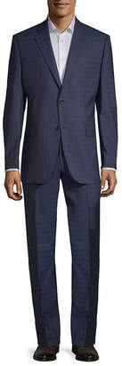 Ermenegildo Zegna For Saks Fifth Avenue Slim Fit Wool Suit With Flat Front Pant