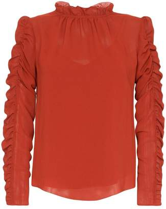 See by Chloe ruffle-neck ruched blouse