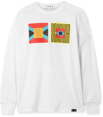 Proenza Schouler Pswl Printed Cotton-jersey T-shirt - White