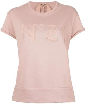 No.21 brand patch sweat T-shirt