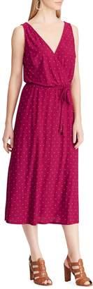 Chaps Polka Dot Sleeveless A-Line Dress