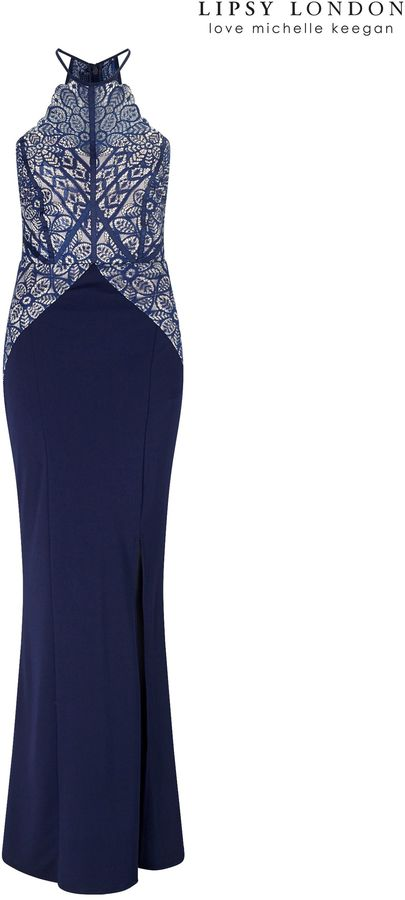Next Lipsy Love Michelle Keegan Lace Detail Placement Maxi Dress - ShopStyle.co.uk Women