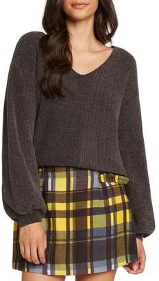Willow & Clay Tie Back Chenille Sweater