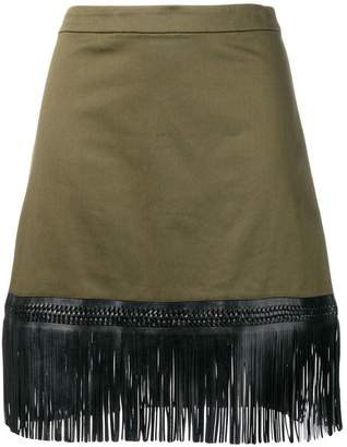 Alexis fringed A-line skirt