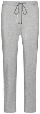 Drawstring jogging pants in heavyweight jersey with zipped hems