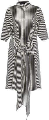 Tome Tie Front Cotton Silk Shirtdress