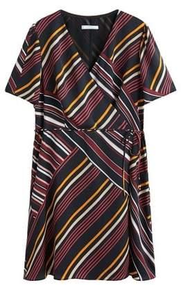 Violeta BY MANGO Striped wrap dress