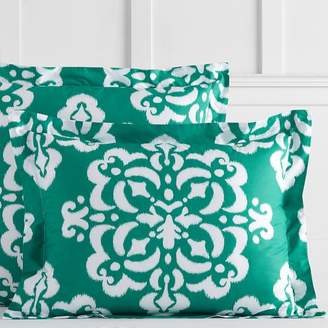 Pottery Barn Teen Ikat Medallion Sham, Standard, Bright Green