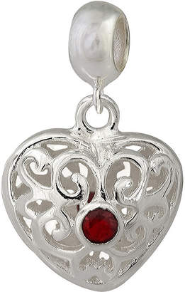 JCPenney FINE JEWELRY Forever Moments Filigree Heart Bead