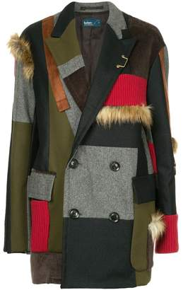 Kolor contrasting panels coat