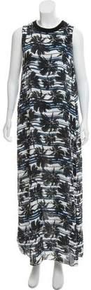 L'Agence Crew Neck Maxi Dress