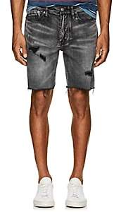 Blank NYC Blanknyc Men's Distressed Denim Slim Shorts-Black Size 29