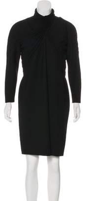 Gianni Versace Pleated Knee-Length Dress