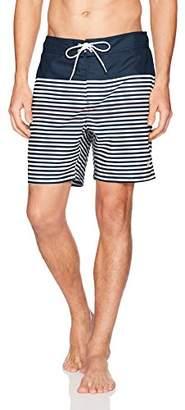 Nautica Men's Quick Dry Full Elastic Waist Striped Swim Trunk