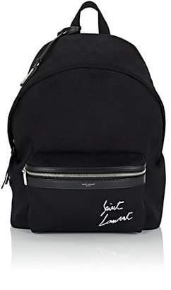 Saint Laurent Men's City Canvas Backpack - Black