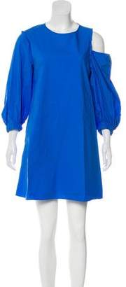 Tibi Long-Sleeve Mini Dress