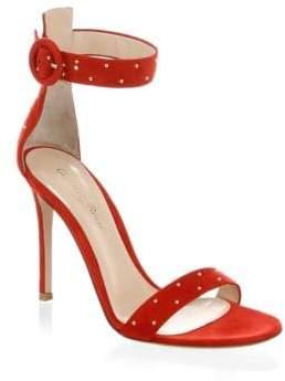 Gianvito Rossi Portofino Studded Suede Strap Sandals