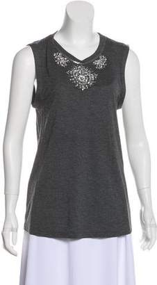 Haute Hippie Sleeveless Embellished Top