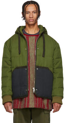 Acne Studios Green Quilted Jacket