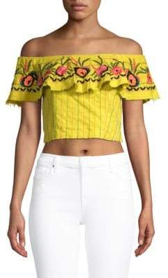 Red Carter Alta Floral Cotton Top