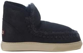 Mou Mini Eskimo Black Sheepskin Ankle Boots
