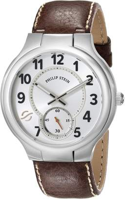 Philip Stein Teslar Men's 42-SW-CSTDBR Round Analog Display Japanese Quartz Brown Watch