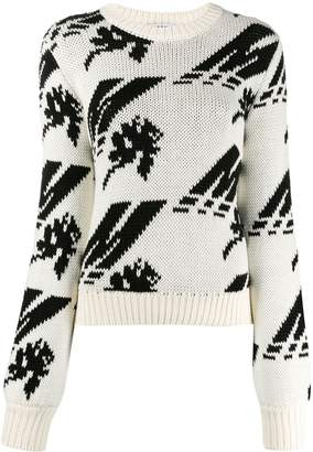 MSGM logo pattern knit jumper