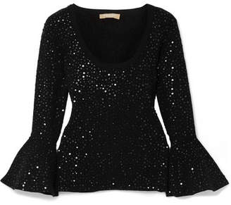 Michael Kors Embellished Stretch-knit Top