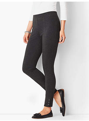Talbots Ankle-Snap Ponte Leggings - Solid