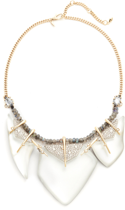 Alexis Bittar Abstract Petal Bib Necklace $445 thestylecure.com