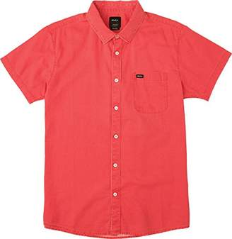 RVCA Men's Front Lawn Short Sleeve Woven Shirt