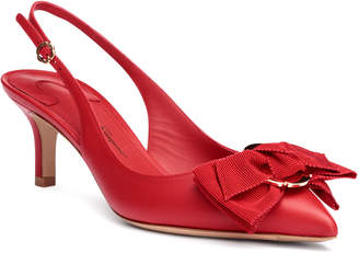 Salvatore Ferragamo Laterina 55 red leather sling-back pumps