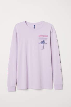 H&M Long-sleeved Shirt - Purple