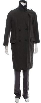 Vince Herringbone Wool & Linen Coat