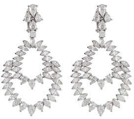 ZYDO Unique 18k White Gold Diamond Double Drop Earrings