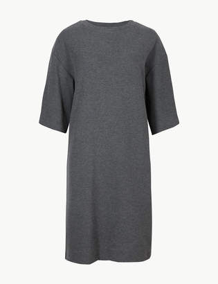 Marks and Spencer Cotton Blend Cosy Shift Mini Dress