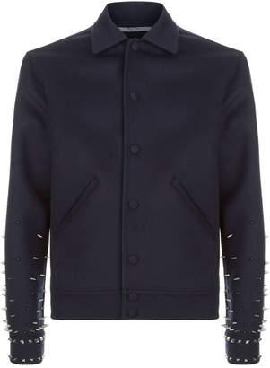 Valentino Spike Stud Wool Jacket
