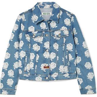 Kenzo Floral-print Denim Jacket