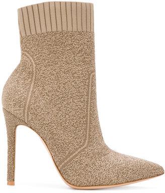 stiletto sock boots