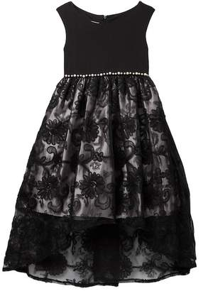 Iris & Ivy Soutache Skirt Social Dress (Big Girls)