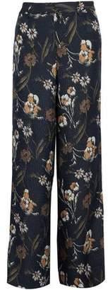Derek Lam 10 Crosby Floral-Print Matelassé Silk-Blend Wide-Leg Pants