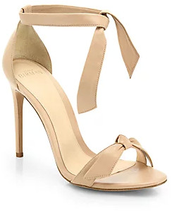 Alexandre Birman Women's Clarita Leather Ankle-Tie Sandals
