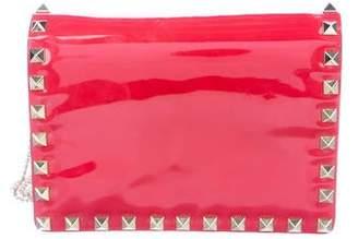 Valentino Patent Leather Rockstud Crossbody Bag