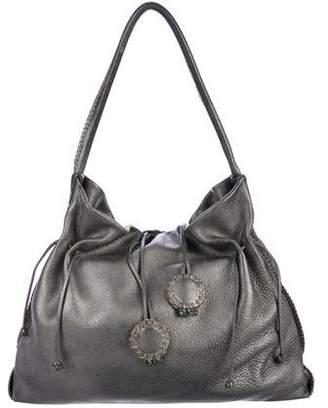 Carlos Falchi Metallic Leather Hobo