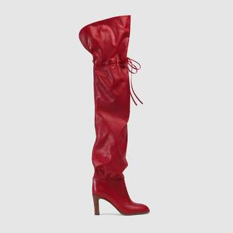 Gucci Leather over-the-knee boot